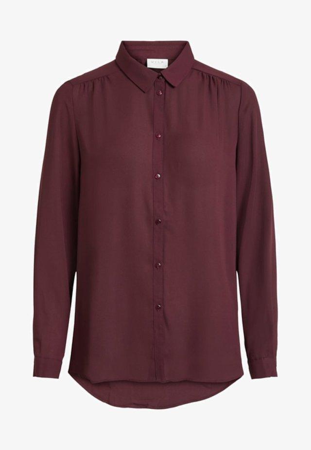 VILUCY - Button-down blouse - bordeaux