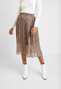 Vila - VINAHLA SKIRT - Pleated skirt - puce/rose smoke - 0