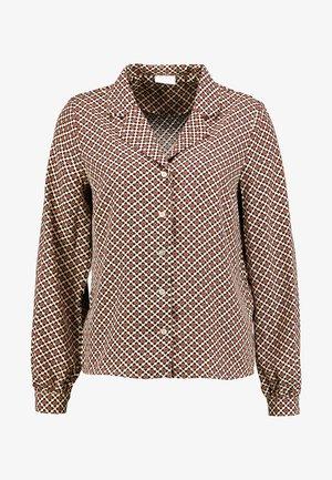 VIEULA - Skjorta - sesame/navy blazer