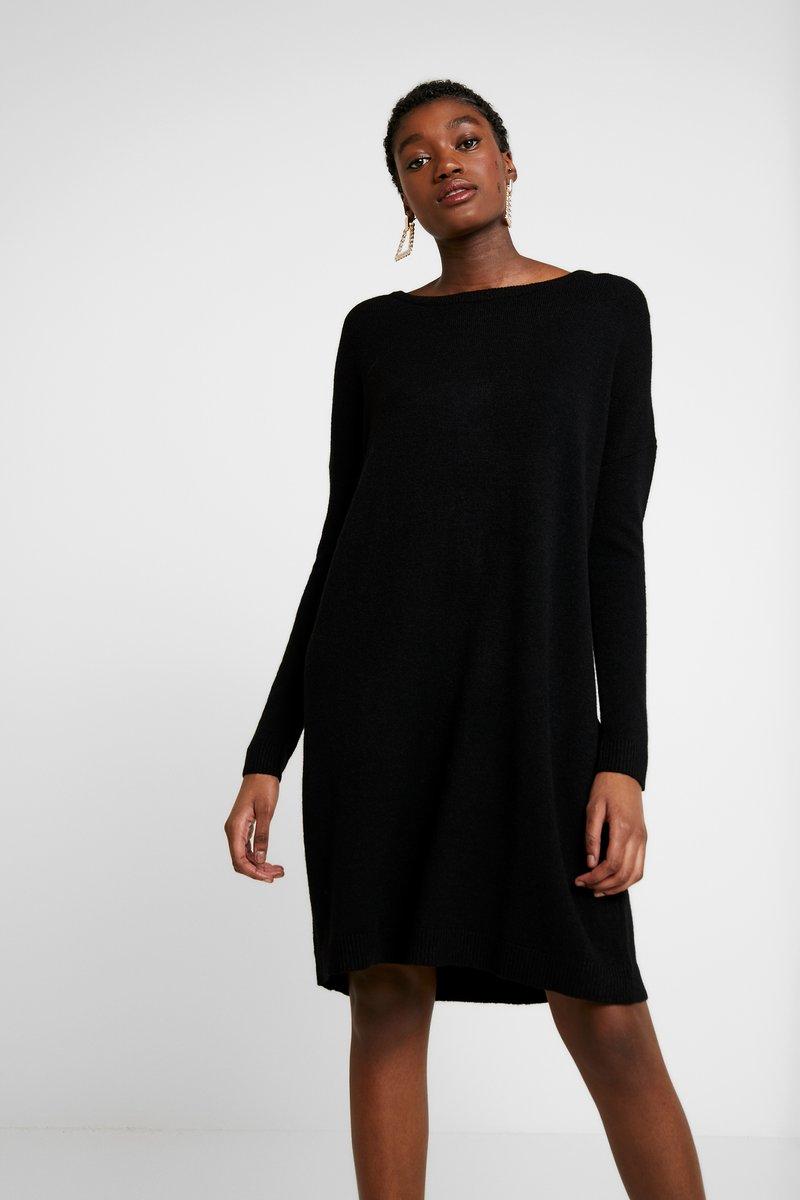 Vila - VIRIL  - Pletené šaty - black