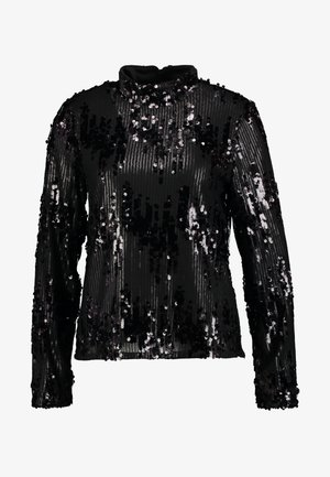 Blouse - black/sequins