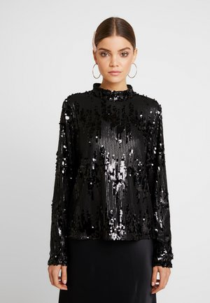 Blouse - black/sequins