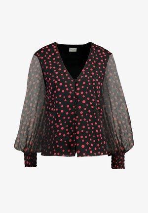 Bluse - black/raspberry