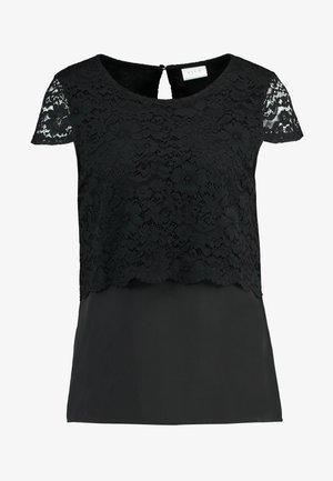 VILOVIA CAPSLEEVE - Blouse - black