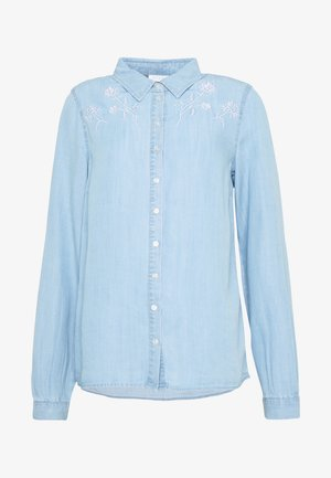 VISUSTER - Blouse - light blue denim