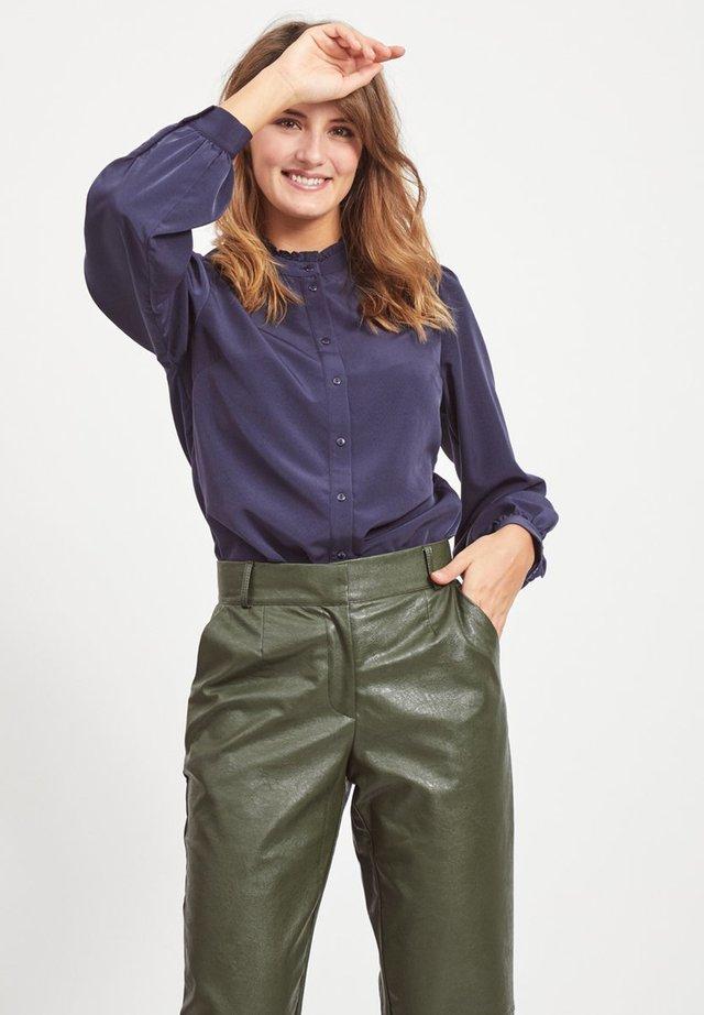 VISIMPLE BUTTON SHIRT - Button-down blouse - navy blazer