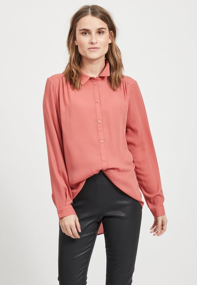VILUCY  - Button-down blouse - mottled pink
