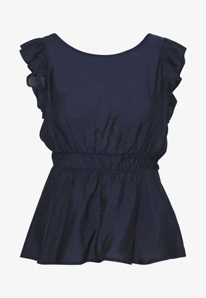 VIJOY RUFFLE  - Blus - navy blazer