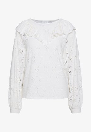 VILOW RUFFLE - T-shirt à manches longues - whisper white