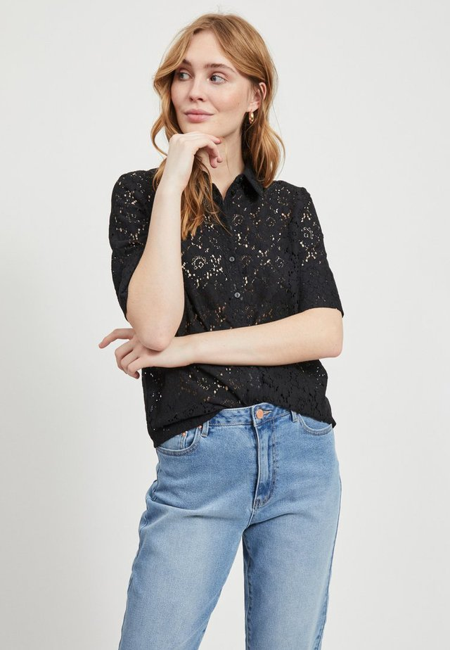 VISULACEY  - Button-down blouse - black