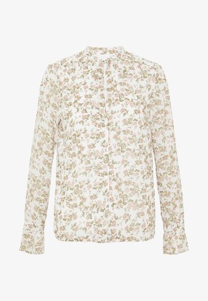 VICUTE TIE NECK DETAIL TOP - Bluser - cloud dancer/pink flowers