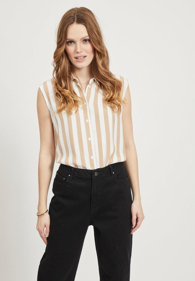 Button-down blouse - white alyssum