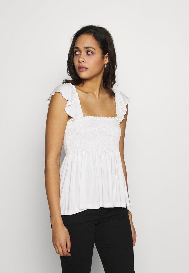 VIBALLA FESTIVAL SMOCK - T-Shirt print - snow white