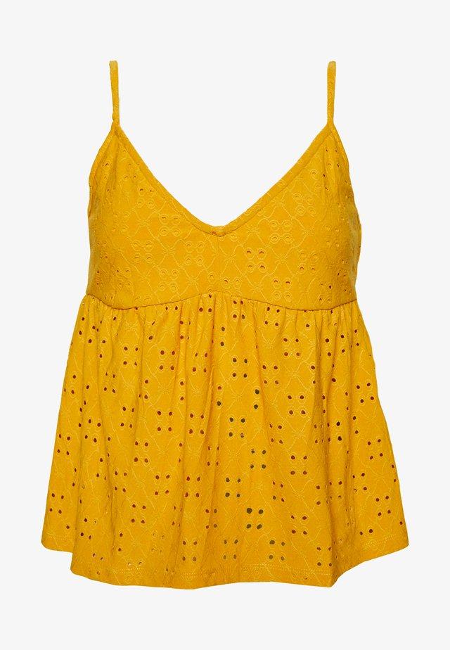 VIKAWA FESTIVAL CROPPED SINGLET - Linne - mineral yellow