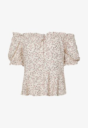 VITAM SWEETHEART TIE - Blouse - cloud dancer/pink