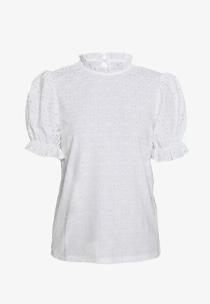 VIKAWA RUFFLE DETAIL TOP - Bluser - off-white