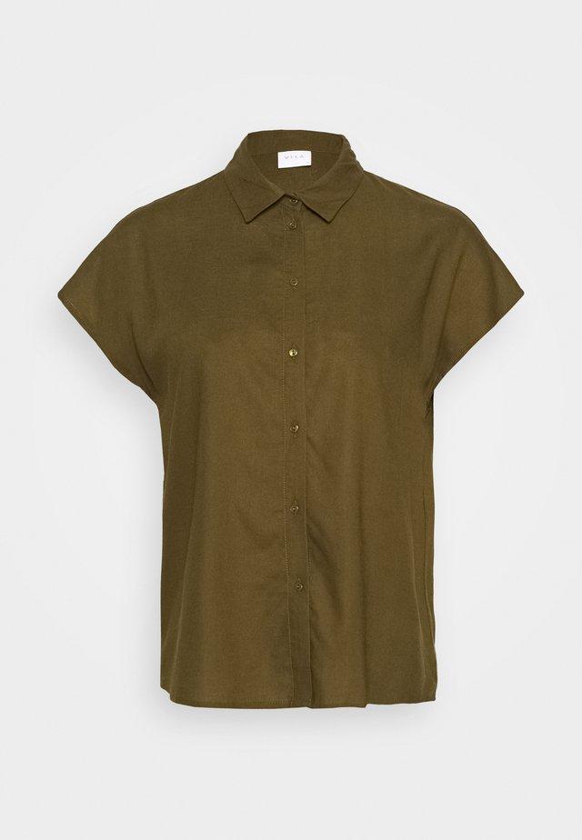VILALINA CAMP - Skjorta - dark olive