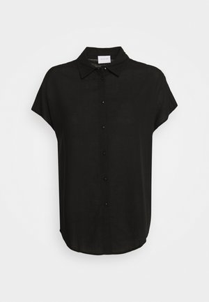 VILALINA CAMP - Button-down blouse - black