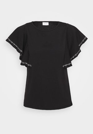 VIOPPA STITCH DETAIL - T-shirt print - black