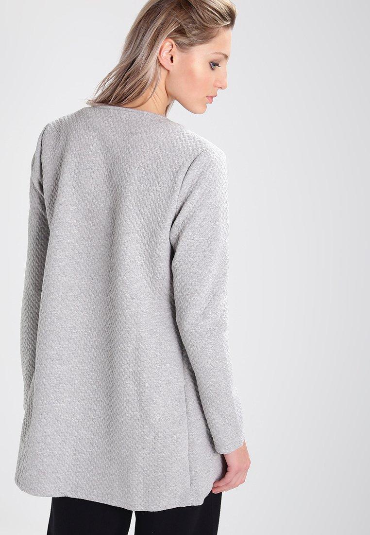 Vila Vinaja New Long - Gilet Light Grey Melange