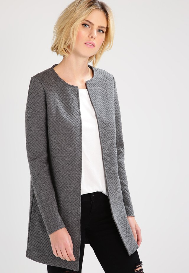 VINAJA NEW LONG - Strickjacke - medium grey melange
