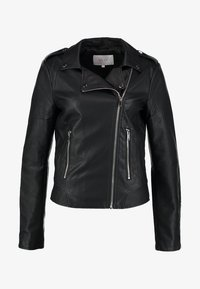 Vila - VICARA FAUX JACKET - Faux leather jacket - black - 6