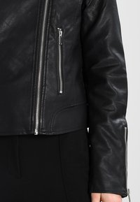 Vila - VICARA FAUX JACKET - Faux leather jacket - black - 5