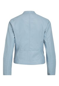 Vila - VIBLUE NEW JACKET - Imitatieleren jas - mottled light blue