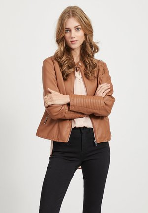 VIBLUE NEW JACKET - Faux leather jacket - light brown