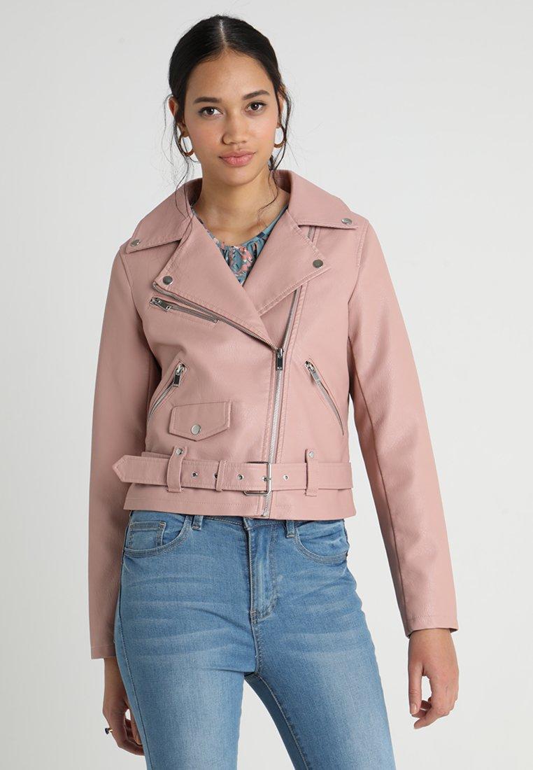 Vila - VIJANE SHORT JACKET - Faux leather jacket - rose
