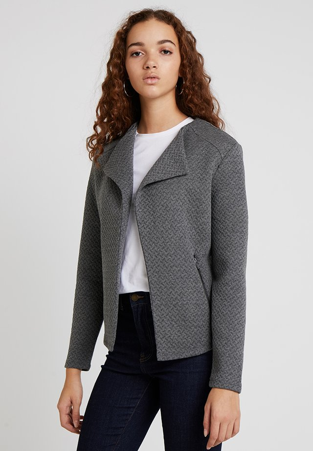 VINAJA BIKER - Blazer - medium grey melange