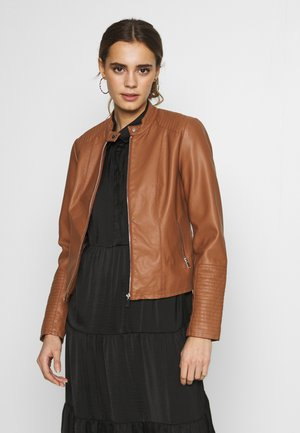 VIBLUE - Faux leather jacket - rawhide