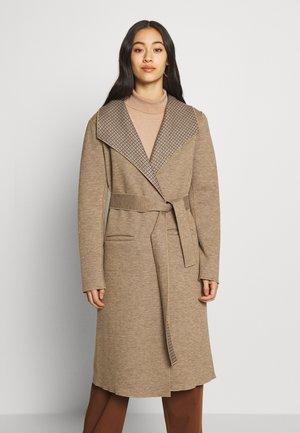 VIJUICE 2IN1 CHECK COAT - Płaszcz wełniany /Płaszcz klasyczny - natural melange