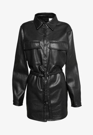 VIDARAS  - Faux leather jacket - black