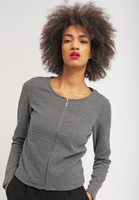 Vila - VINAJA - Cardigan - medium grey melange - 0