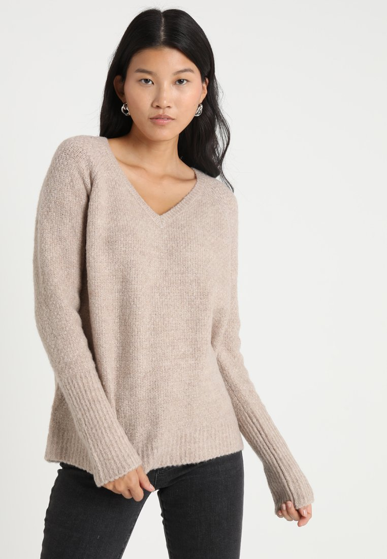 Vila - VIPLACE V NECK  - Jumper - natural