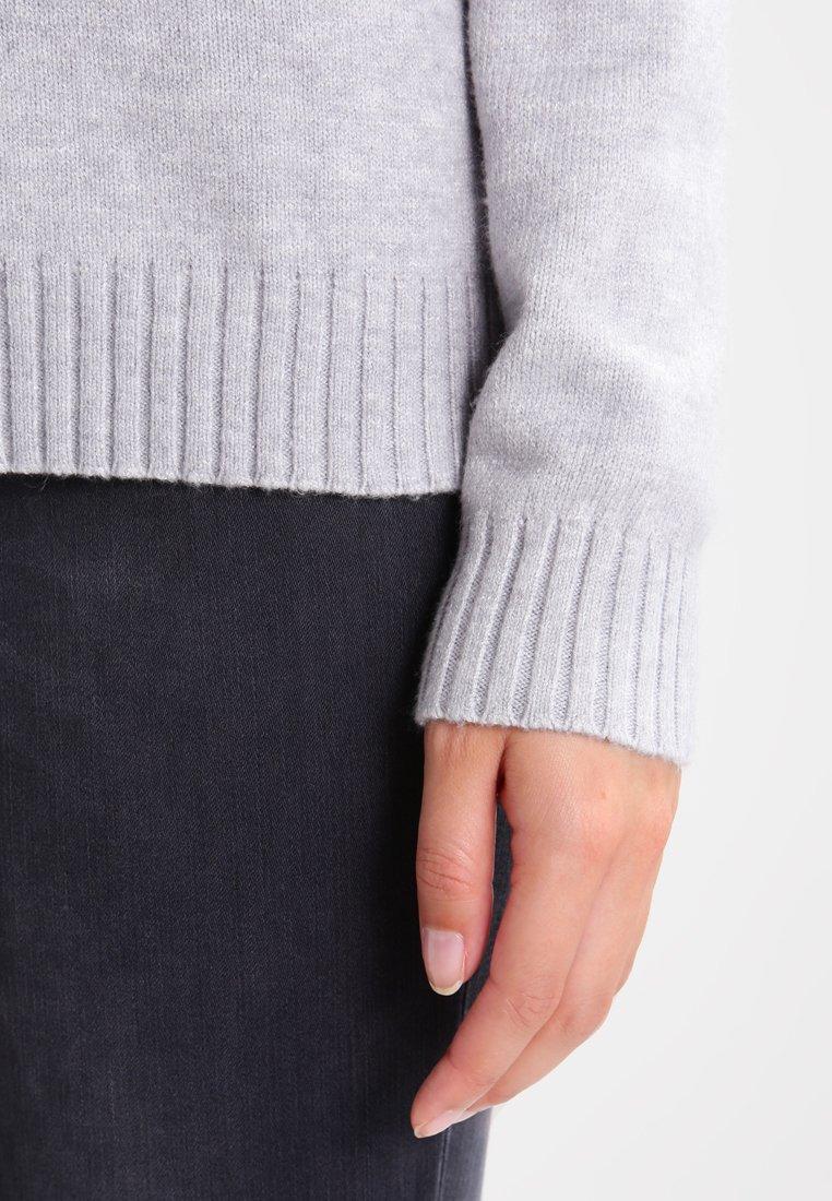 Vila VIRIL V NECK - Sweter - light grey melange
