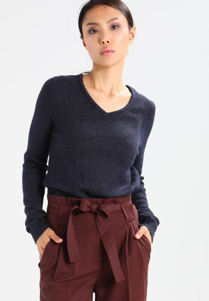 VIRIL V NECK - Sweter - total eclipse