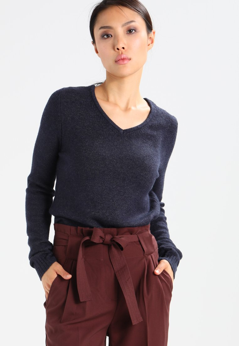 Vila - VIRIL V NECK - Jumper - total eclipse
