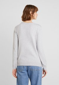 Vila - VIRIL O NECK - Pullover - light grey melange - 2