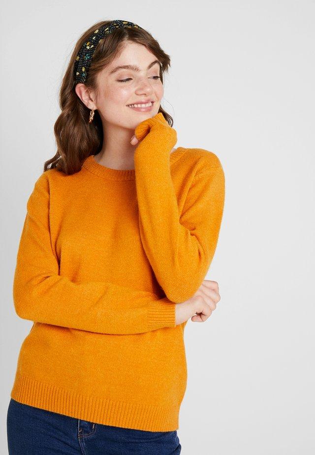 VIRIL O NECK - Stickad tröja - golden oak/melange