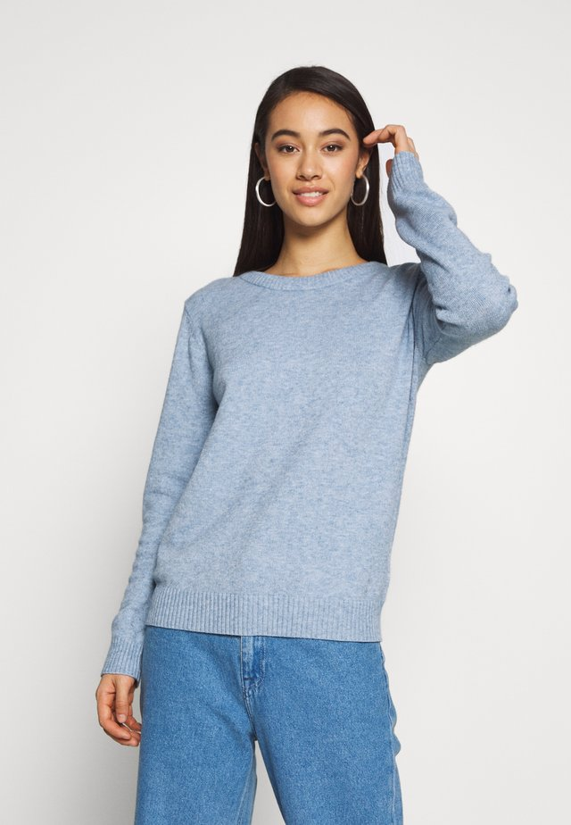 VIRIL O NECK - Strickpullover - ashley blue melange