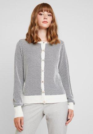 Cardigan - white/navy blazer