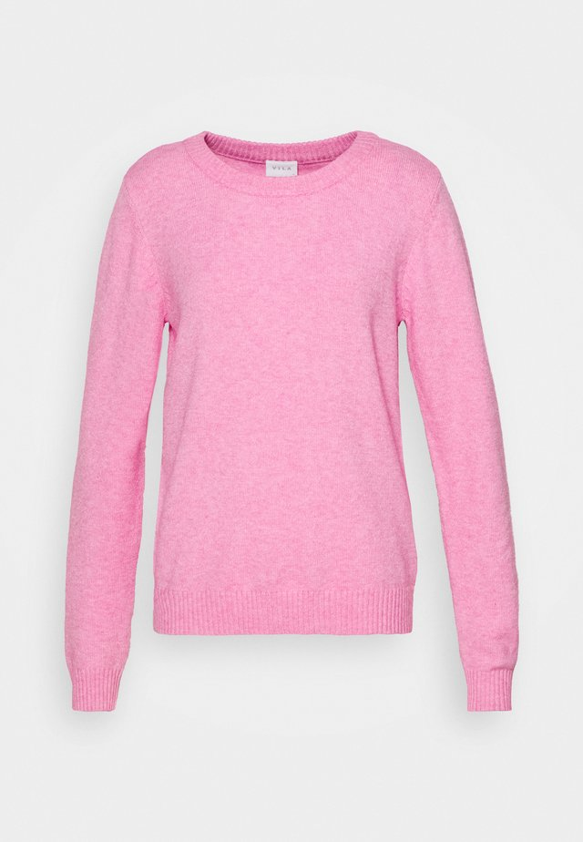 VIRIL O-NECK - Strickpullover - begonia pink/melange