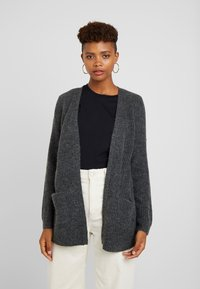 Vila - Cardigan - dark grey melange - 0