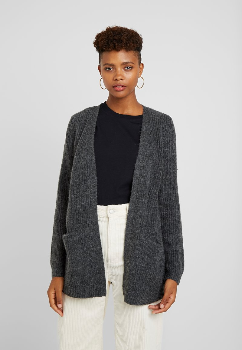 Vila - Cardigan - dark grey melange