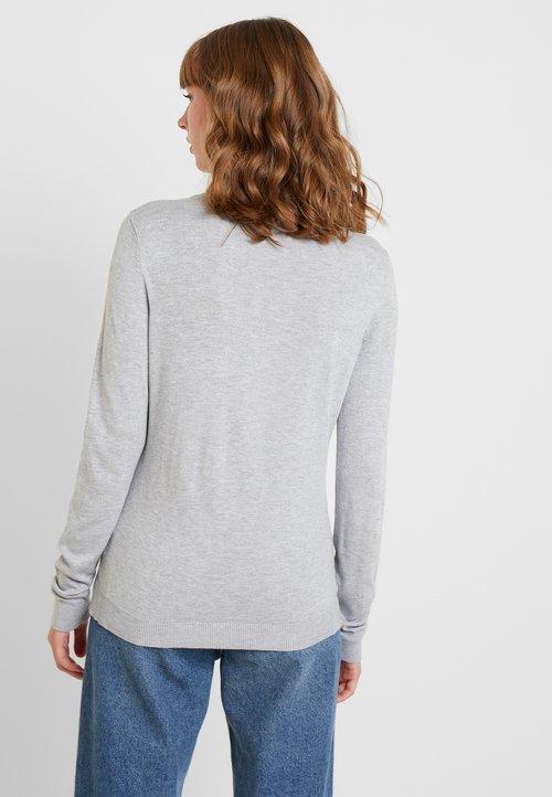Vila VIBOLONIA ROLLNECK - Sweter - light grey melange Odzież Damska RALQ-KO5 85% ZNIŻKI