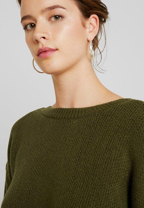 60% ZNIŻKI Vila VISILAS - Sweter - dark olive Odzież Damska GJYJ-BW9