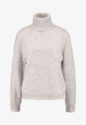 Stickad tröja - natural melange