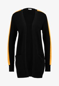 Vila - Strikjakke /Cardigans - black/track golden oak - 4